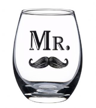 Mr Wine Glass With Moustache